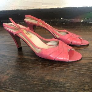 Ferragamo Vintage Pink Leather Slingback Sandals
